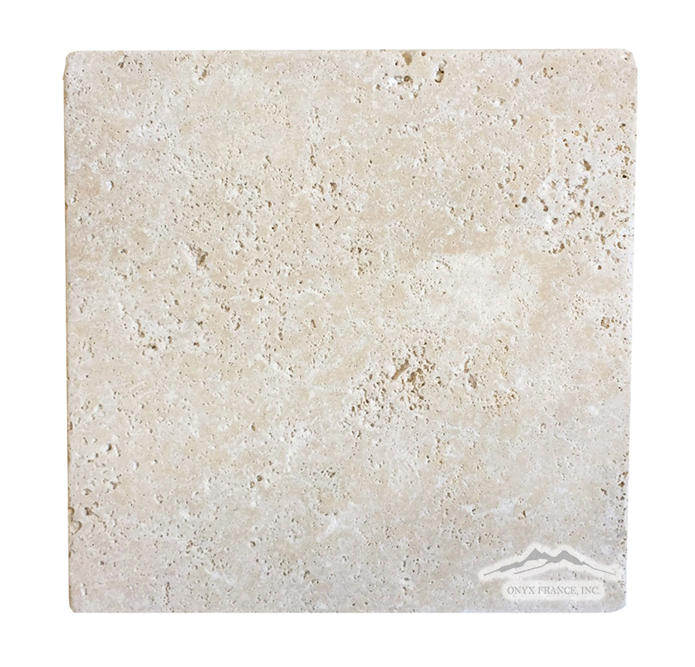 "Beige Antique Travertine 8"" x 8"" Tile Tumbled"