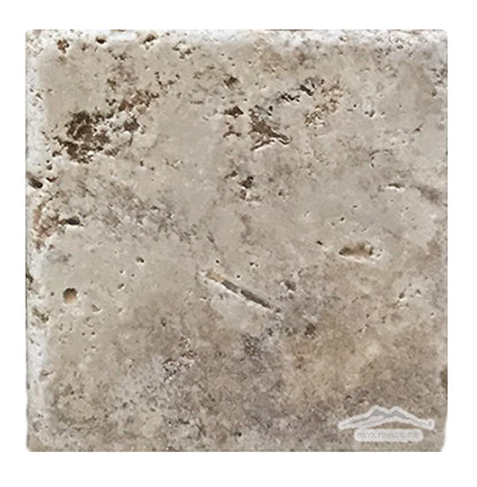 "Rosa Scabas Travertine 8"" x 8"" Tile Tumbled"