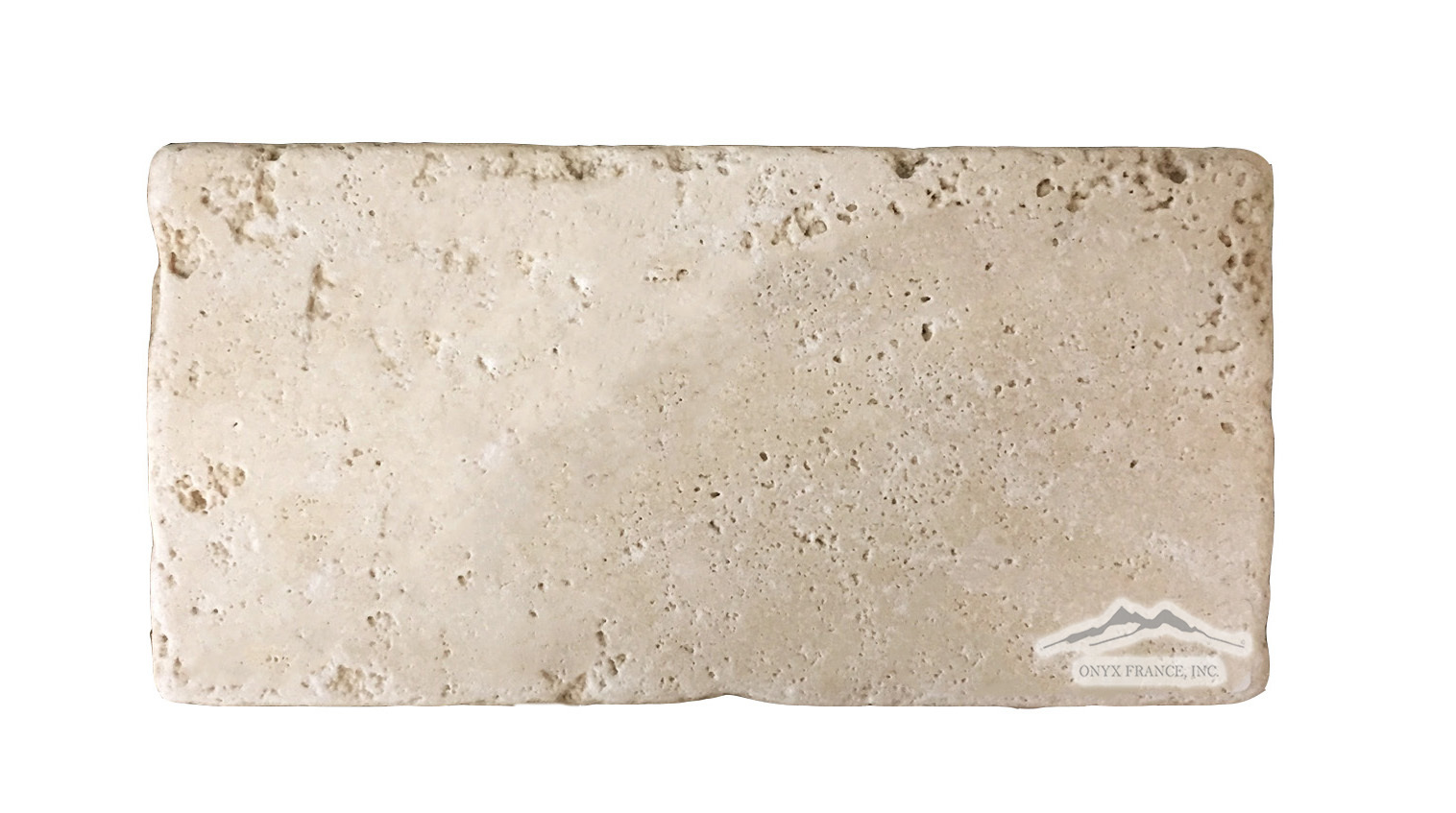 "Beige Antique Travertine 4"" x 8"" Tile Tumbled"