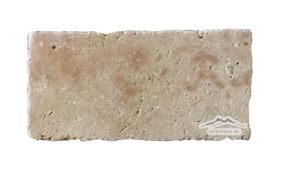 """Sunstone (Orro Rosso) Limestone 4"""" x 8"""" Tile Tumbled"""