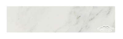"White Statuary Calacatta Marble 3"" x 12"" Honed & Polished"