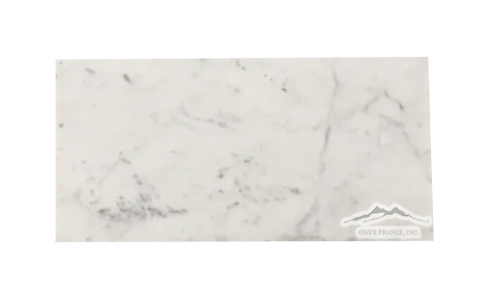 "White Carrara Venatino PREMIUM Marble 3"" x 6"" Tile: Honed & Tumbled (inquire on tumbled)"