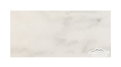 "White Statuary Calacatta Marble 3"" x 6"" Honed & Polished"