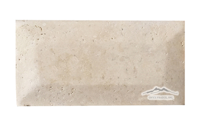 "Durango Travertine 3"" x 6"" Tile: Pillowed , Honed, & Rolled Edge"