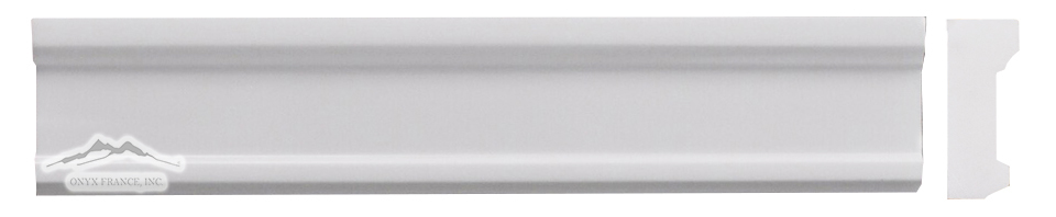 "White Elegant SELECT Plaza Ogee 2"" x 12"" Molding Polished"