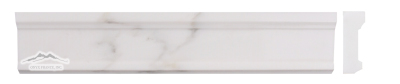 "White Statuary Calacatta Marble Plaza Ogee 2.5"" x 12"" Molding Polished"