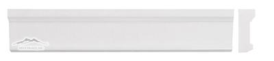 """White Thassos Marble Plaza Ogee 2.5"""" x 12"""""""