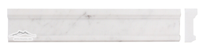 "White Carrara Venatino (PREMIUM) Plaza Ogee 2.5"" x 12"" Honed"