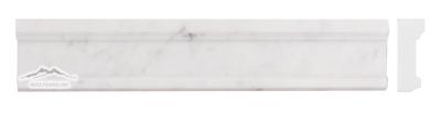 "White Carrara Venatino (PREMIUM) Plaza Ogee 2.5"" x 12"" Molding Honed"
