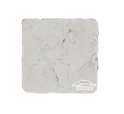 "Bianco Perlino Marble 4"" x 4"" Tumbled"