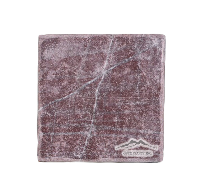 "Rosso Laguna Marble (Red Lake) 4 x 4"" Tumbled"