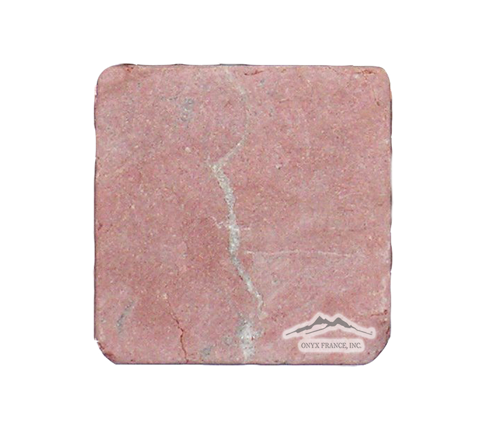 "Rojo Alicante Marble 4"" x 4"" Tile Tumbled"
