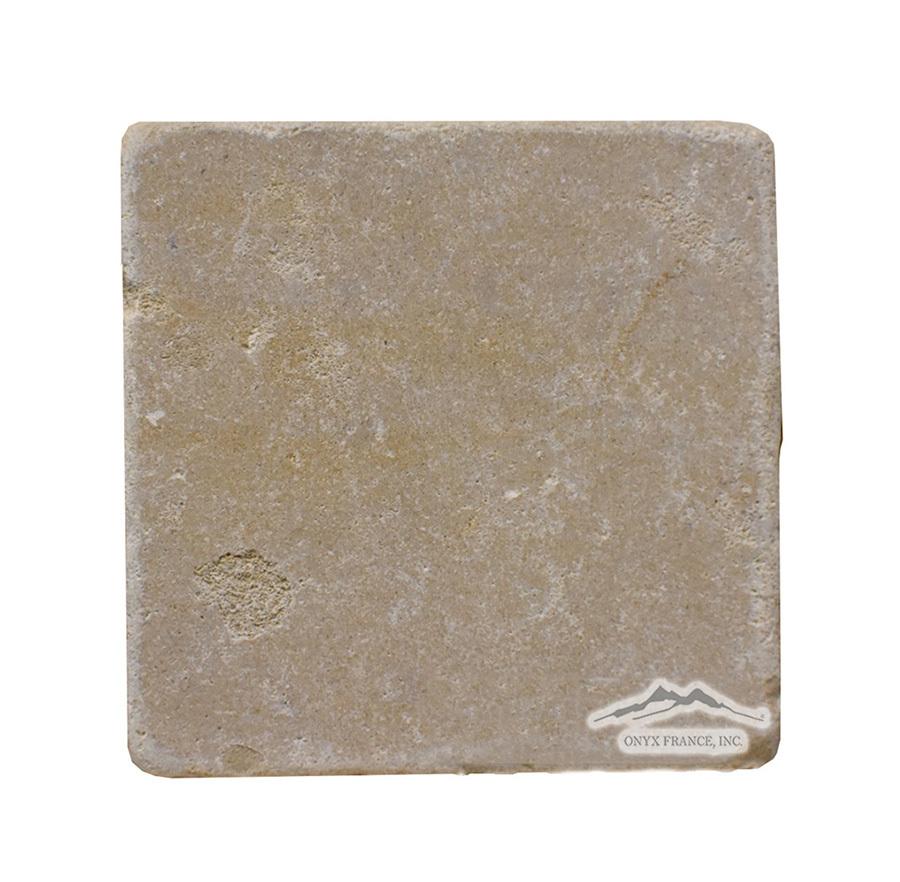 "Gold Lagoon Limestone 4"" x 4"" Tile Tumbled"