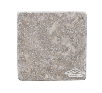 "Jerusalem Grey Limestone 4"" x 4"" Tile Tumbled"