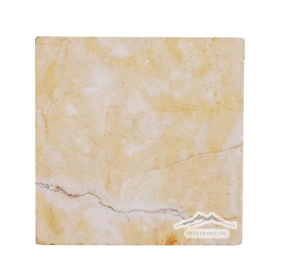 "Renaissance Bronze Limestone 4"" x 4"" Tile Tumbled"