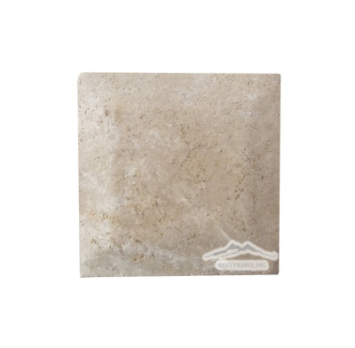 "Durango Travertine 4"" x 4"" Tile Pillowed, Honed, & Cushioned"