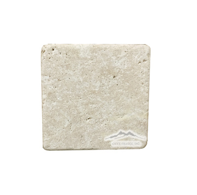 "Durango Travertine 4"" x 4"" Tile Tumbled"
