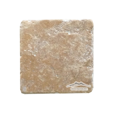 "Golden Antique Travertine 4"" x 4"" Tumbled"