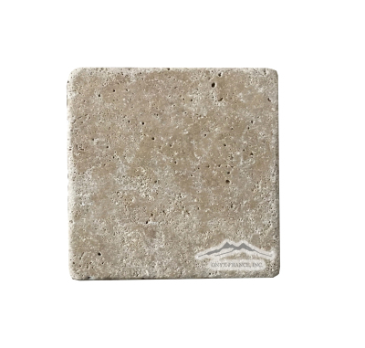 "Noce Travertine 4"" x 4"" Tumbled"