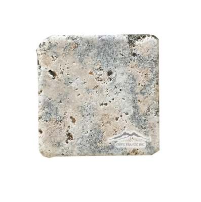 "Rosa Scabas Travertine 4"" x 4"" Tumbled"