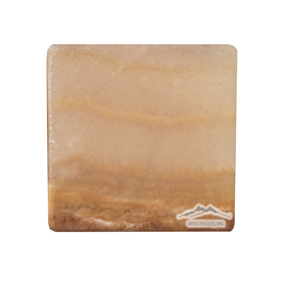 "Tiger Onyx 4"" x 4"" Vein Cut Onyx: Antique/Tumbled"