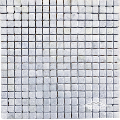 "Blue Celeste Quartzite 5/8"" x 5/8"" Mosaic Tumbled"