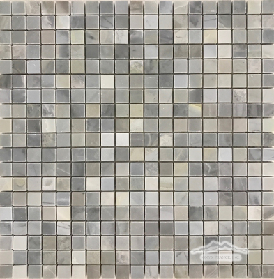 "Blue Saveh Marble 5/8"" x 5/8"" Mosaic Polished"