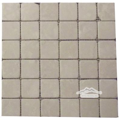 """Botticino Marble 2"""" x 2"""" Mosaic Tumbled"""