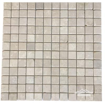 """Botticino Marble 1"""" x 1"""" Mosaic Tumbled"""