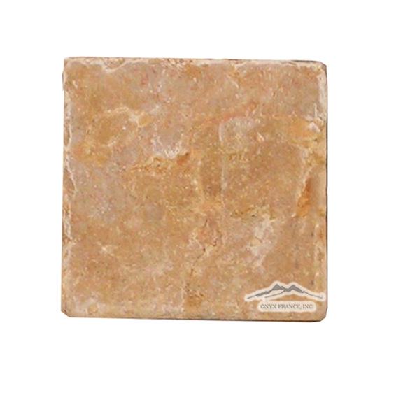 """Giallo Reale Marble 4"""" x 4"""" Tile Tumbled"""