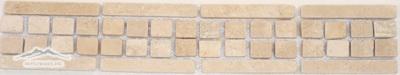 Border #4D: Checkerboard Design: 2-3/4' 'x 12'' Durango  Tumbled