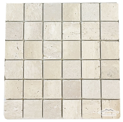 "Durango Travertine 2"" x 2"" Mosaic Tumbled"