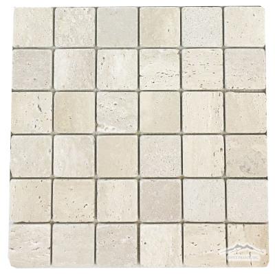 """Durango Travertine 2"""" x 2"""" Mosaic Tumbled"""
