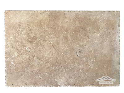 "Noce (light) Travertine 16"" x 24"" Cobbled, Honed, & Unfilled"