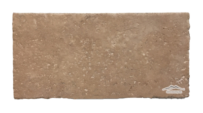 "Noce Travertine 8"" x 16"" Brushed, Cobbled, & Unfilled"