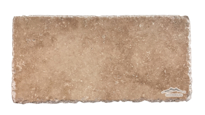 "Noce  Travertine 8"" x 16"" Cobbled, Honed, & Unfilled"