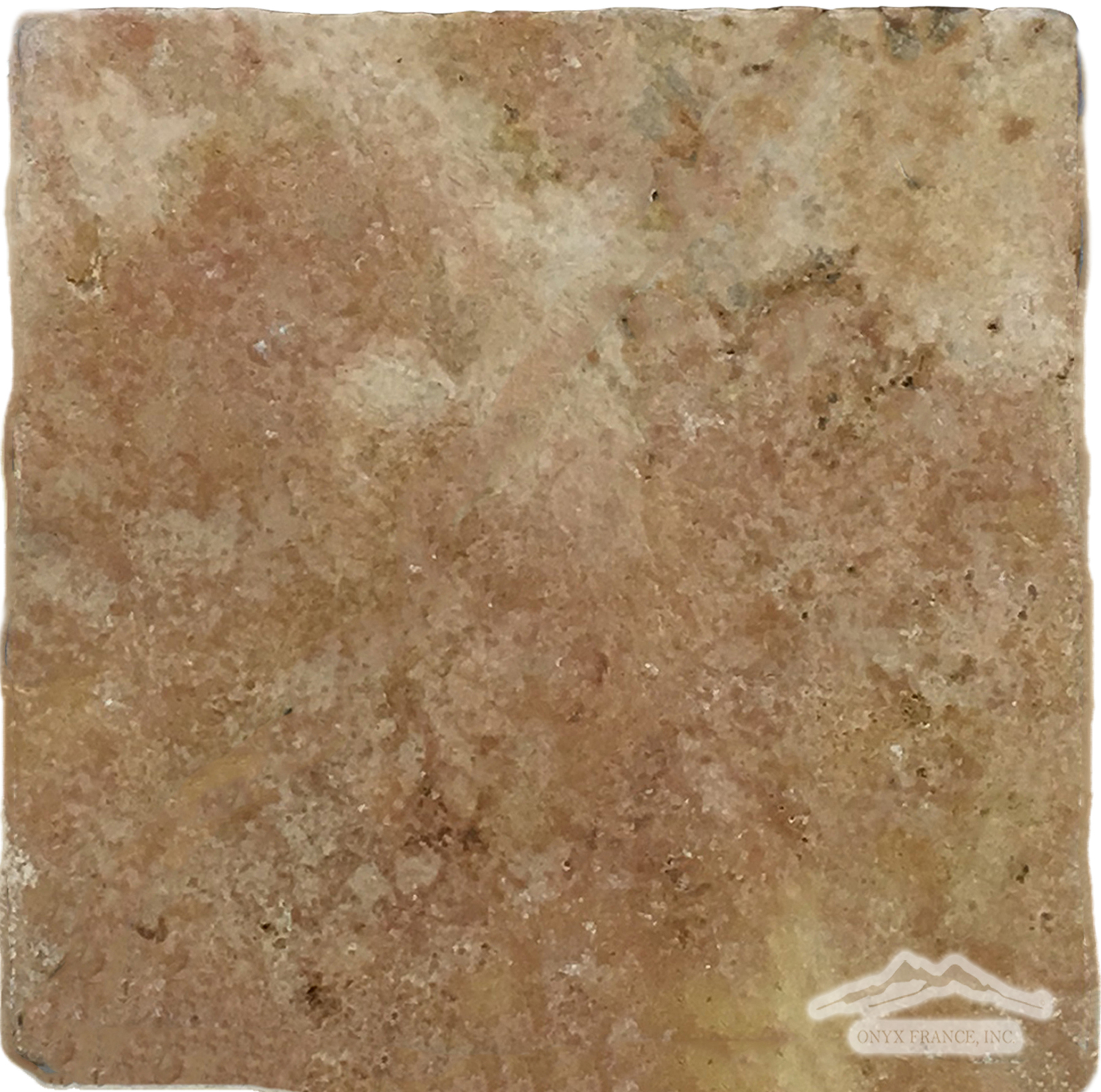 "Peach Travertine 12"" x 12"" Tile Tumbled"