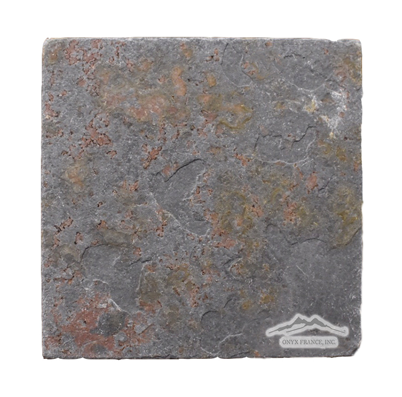 "Multicolor Autumn Slate 8"" x 8n"" x 3/8"" Cleft & Gauged"