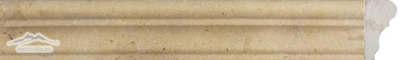 "Gold Lagoon Limestone: France Ogee: 1-3/4"" x 12"" Molding Honed"