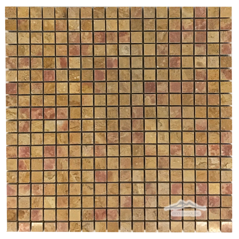 "Giallo Reale Marble 5/8"" x 5/8"" Polished Mosaic"