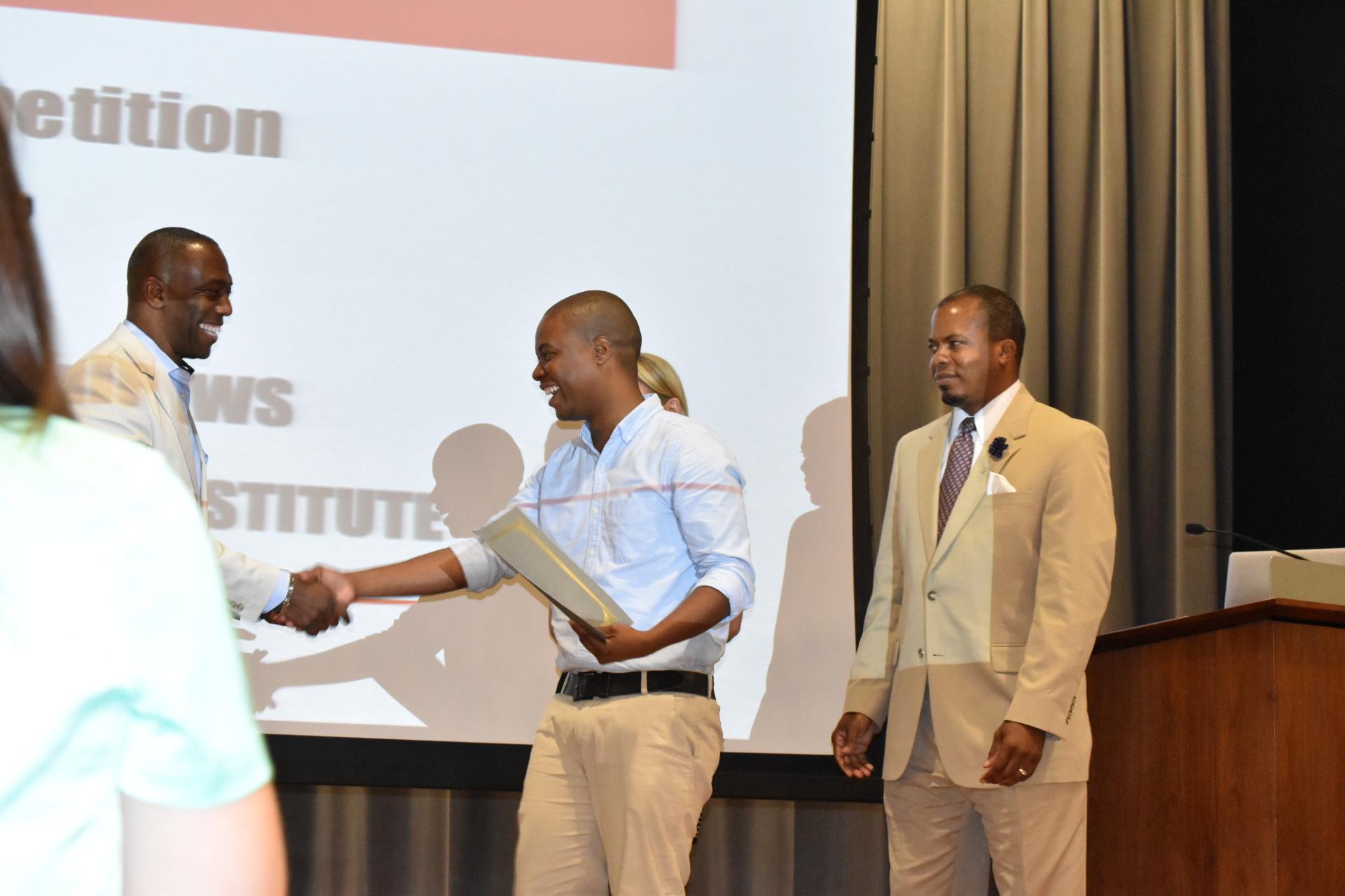 Receiving International Business pitch award