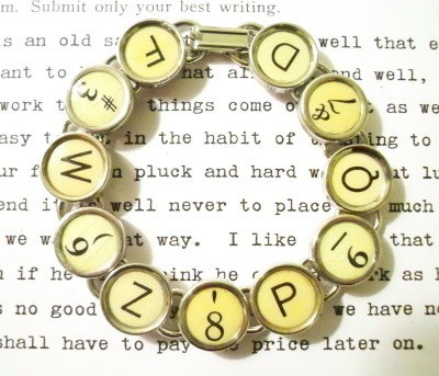 Vintage Antique Typewriter Bracelet