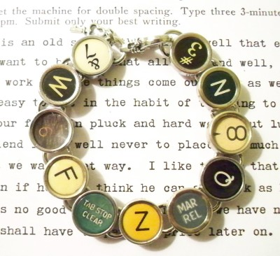 Wordsmith typewriter bracelet