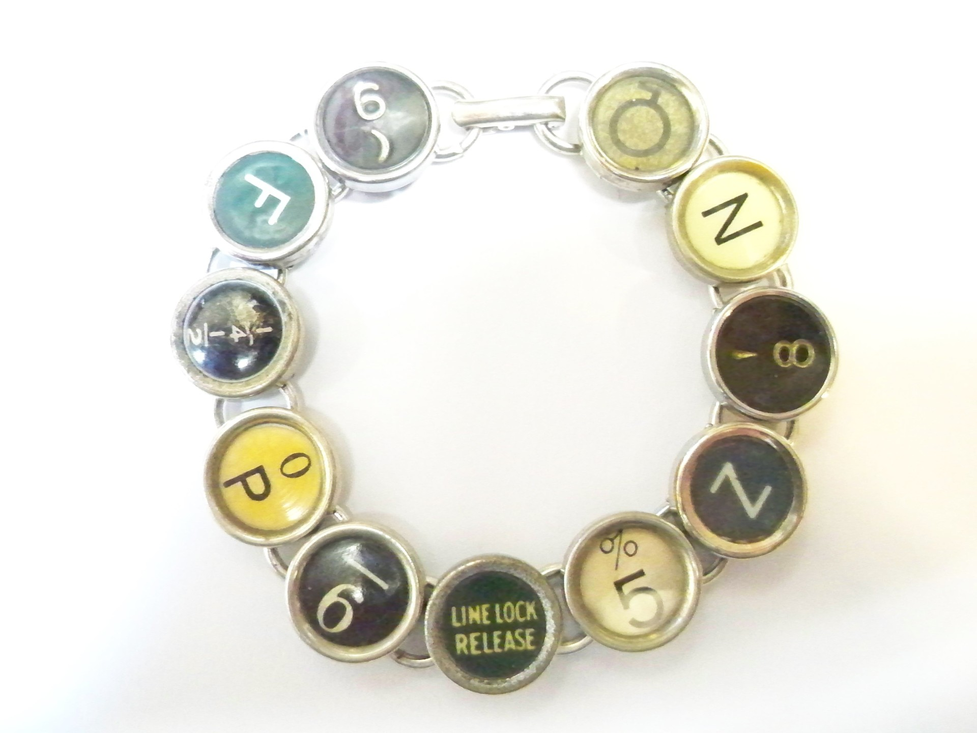 Wordsmith typewriter bracelet