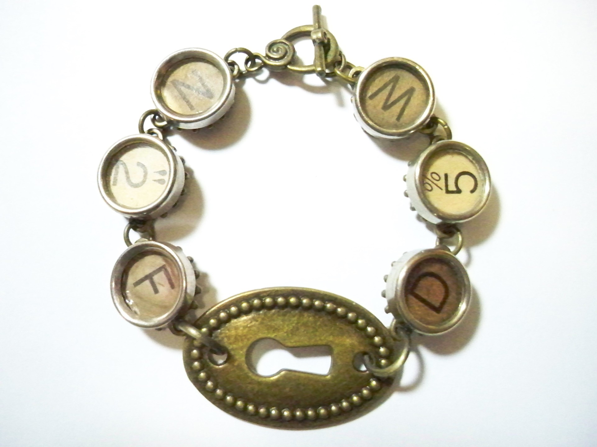 Hugs Kisses Typewriter Bracelet