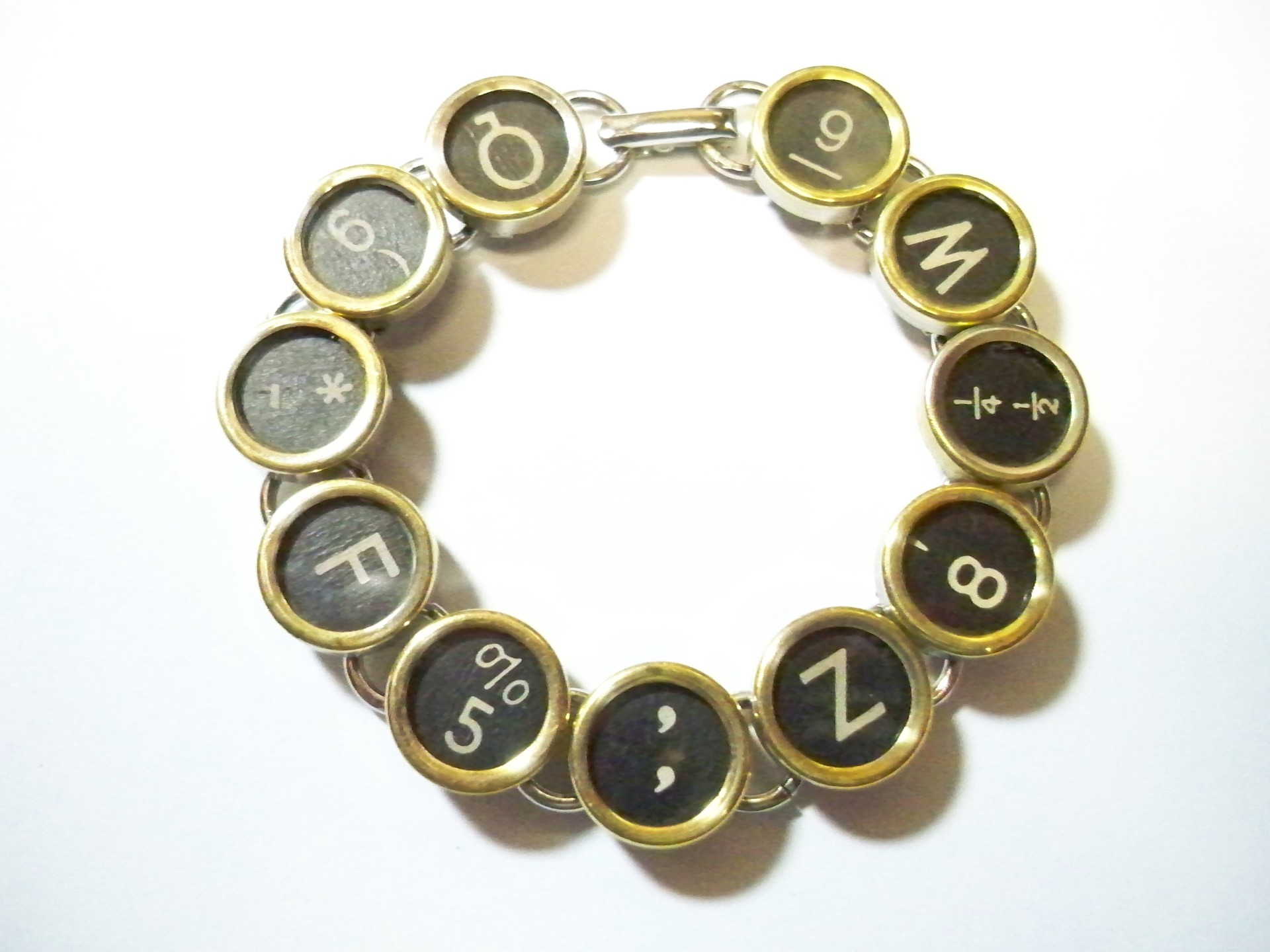 typewriter keys repurposed jewelry