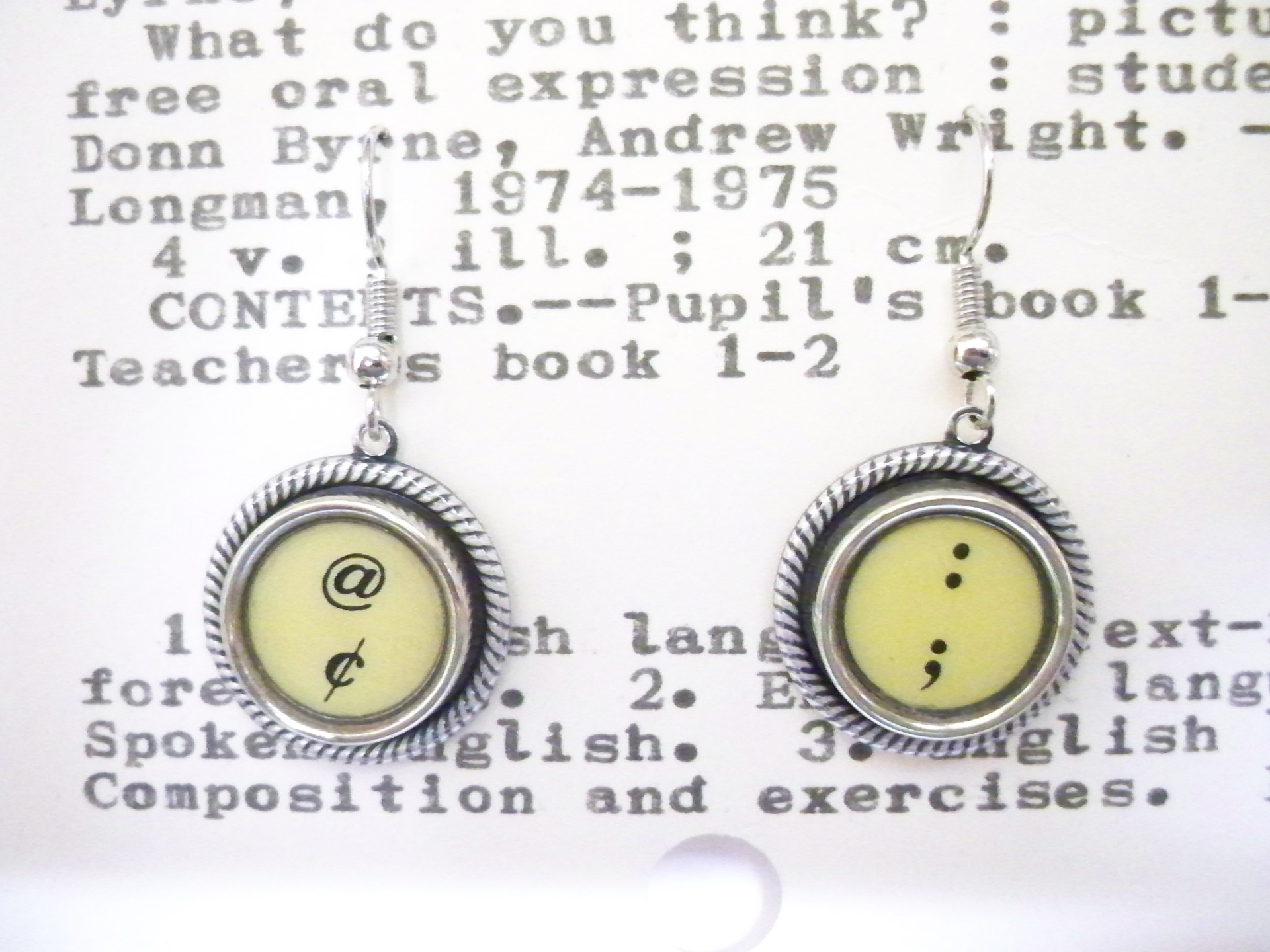 Semi Colon Earrings