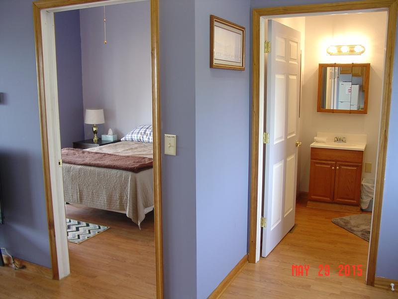 entrance to bathroom and bedroom