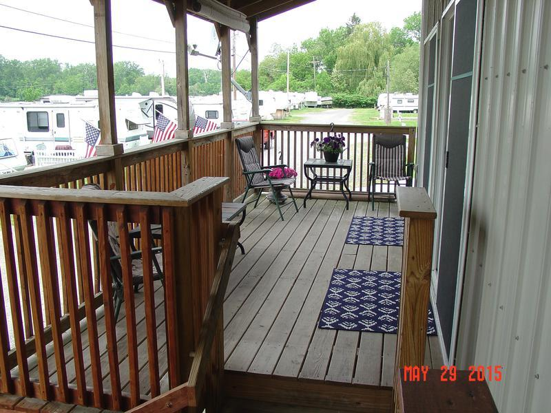 decks on the apartments