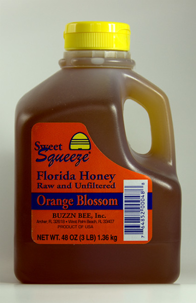 Raw Florida Honey, Orange Blossom
